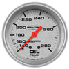 Autometer 4441 Ultra-Lite Oil Temperature Gauge 2-5/8 in., Mechanical