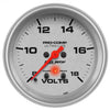 Autometer 4483 Ultra-Lite Voltmeter Gauge 2-5/8 in., Electrical