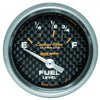Autometer 4715 Carbon fiber Ultra-Lite Fuel level gauge, 2-1/16 in., Electrical