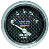 Autometer 4716 Carbon fiber Ultra-Lite Fuel level gauge, 2-1/16 in., Electrical