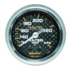 Autometer 4732 Carbon fiber Ultra-Lite Water Temperature gauge, 2-1/16 in., Mechanical