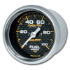 Autometer 4763 Carbon fiber Ultra-Lite Fuel pressure gauge, 2-1/16 in., Electrical