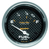 Autometer 4815 Carbon fiber Ultra-Lite Fuel level gauge, 2-5/8 in., Electrical