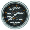 Autometer 4832 Carbon fiber Ultra-Lite Water Temperature gauge, 2-5/8 in., Mechanical