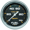 Autometer 4863 Carbon fiber Ultra-Lite Fuel pressure gauge, 2-5/8 in., Electrical