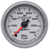 Autometer 4956 Ultra-Lite II Oil Temperature gauge 2-1/16 in., Electrical