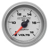 Autometer 4991 Ultra-Lite II Voltmeter gauge 2-1/16 in., Electrical