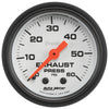 Autometer 5725 Phantom Exhaust back pressure Gauge, 2-1/16 in., Mechanical