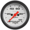 Autometer 5794 Phantom Exhaust back pressure Gauge, 2-1/16 in., Electrical