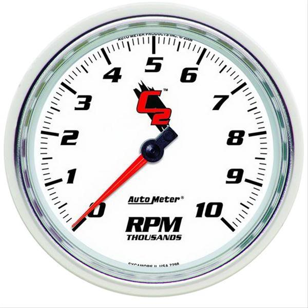 "Autometer 7298 C2 Series Tachometer, 5"", 10k RPM, In-Dash"