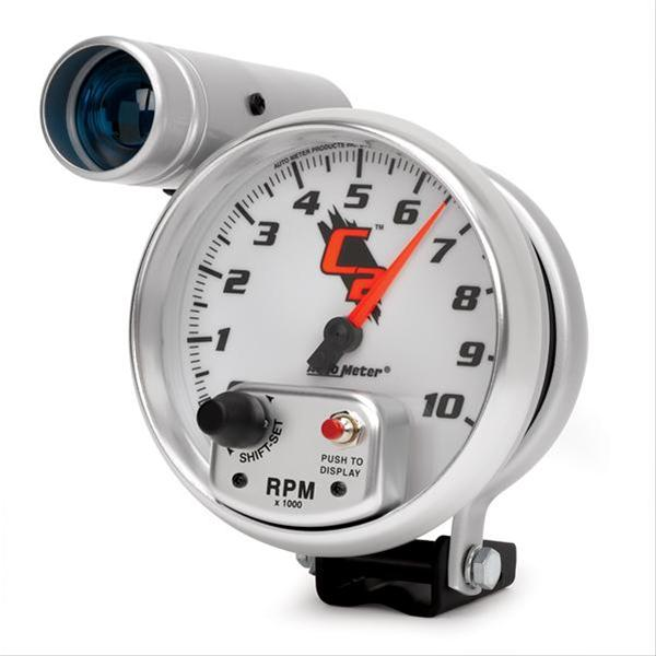 "Autometer 7299 C2 Series Tachometer, 5"", 10k RPM, Pedestal w/ ext. Shift-Lite"