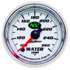 Autometer 7355 NV Series Water Temperature Gauge, 2-1/16 in., Electrical