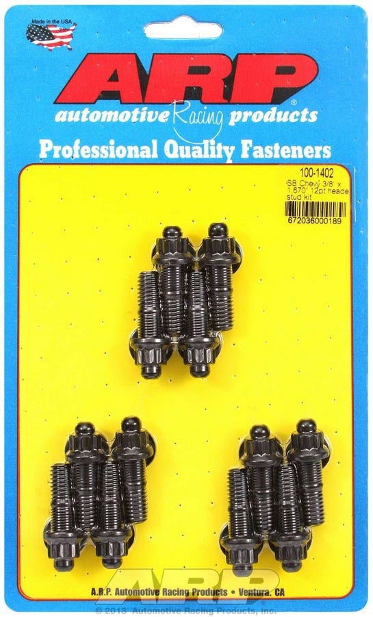 ARP 100-1402 Header Stud Kit - 12pt. 3/8 x 1.670 OAL (12)