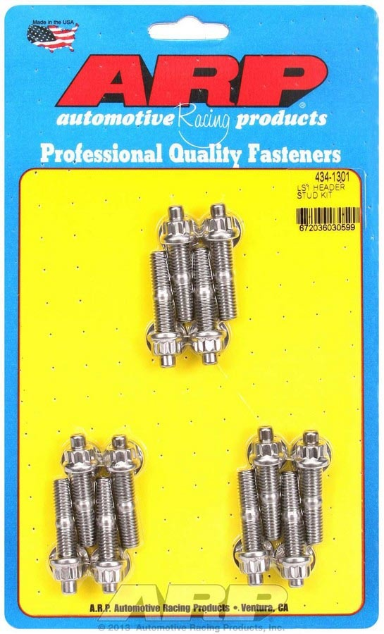 ARP 434-1301 S/S Header Stud Kit - M8 x 1.750in OAL (12)