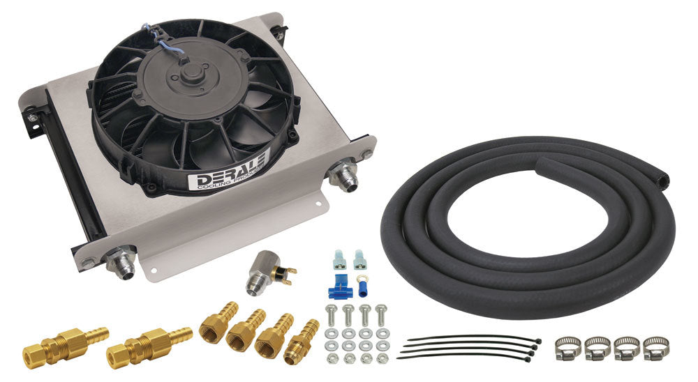 Derale 15960 Hyper-Cool Trans Cooler  Kit -8an