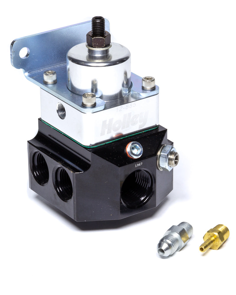 1:1 HOLLEY 12-880 Return Style Fuel Pressure Regulator 6AN Boost Reference