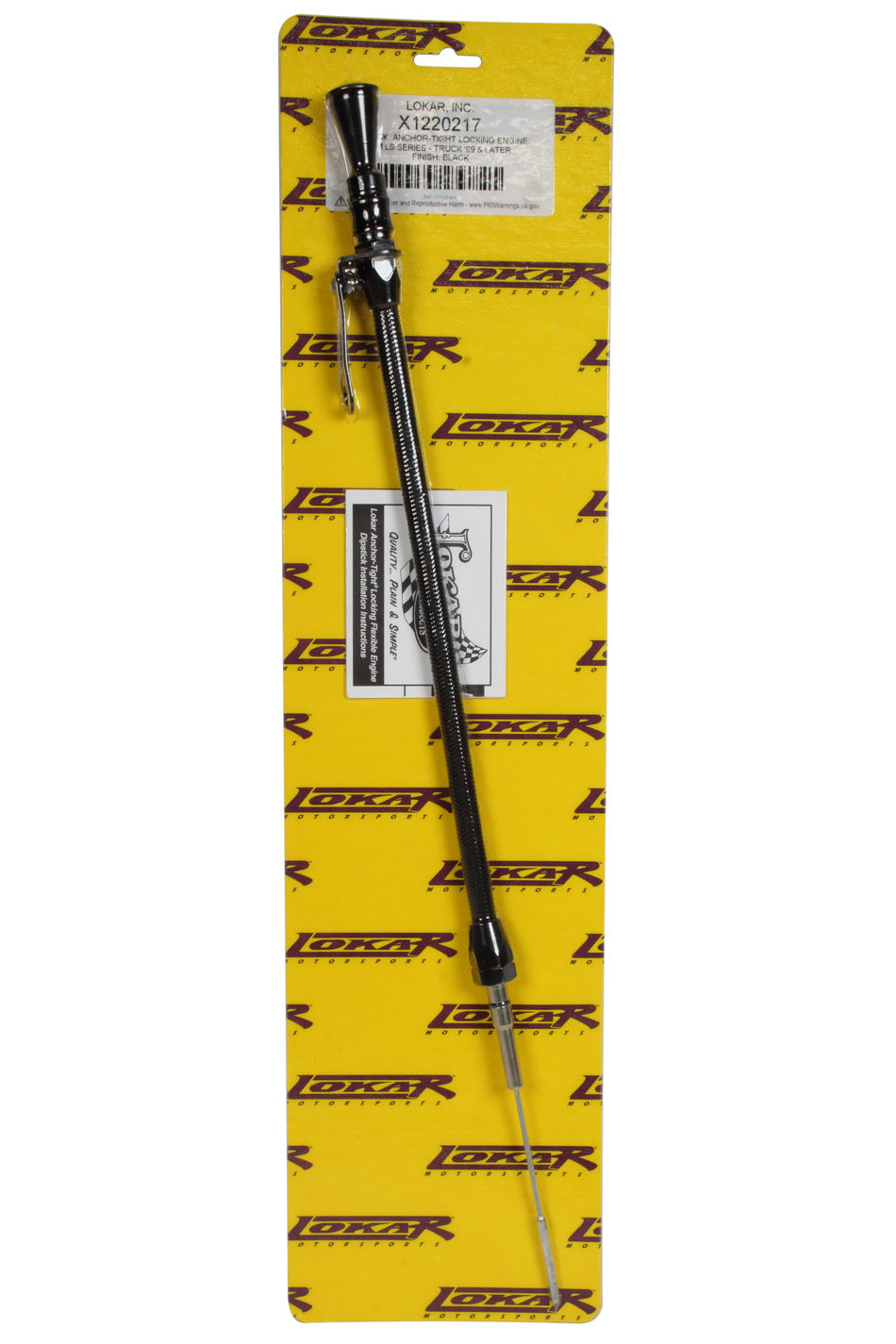 Lokar X1220217 Midnight Series Anchor Tight Locking dipstick