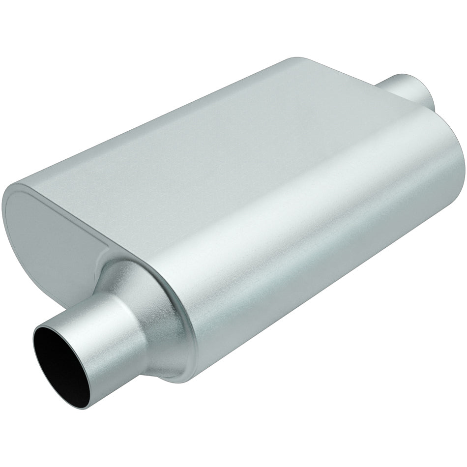 MagnaFlow R23041 Rumble Aluminizd Muffler 3in Offset In/Center Out