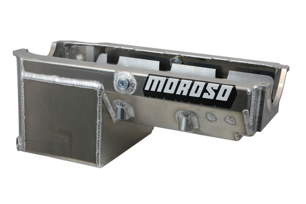 Moroso 21240 8qt Oil Pan - SBC Drag Race w/2-Piece Rear Main