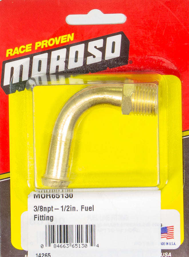 Moroso 65130 3/8npt-1/2in. Fuel Fitting