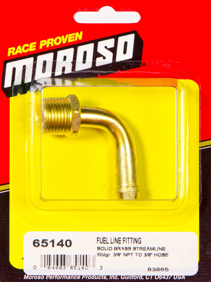 Moroso 65140 3/8npt-3/8in. Fuel Fitting