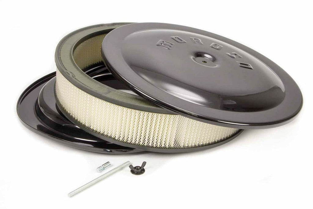 Moroso 65912 14x3 Air Cleaner Kit w/Raised Bottom Black