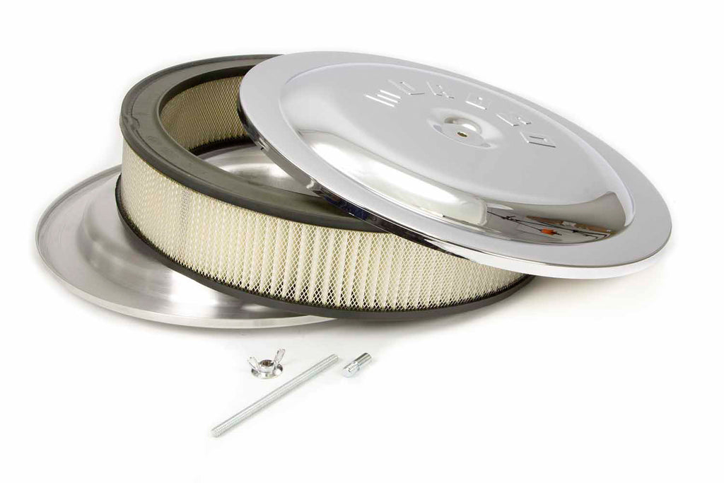 Moroso 65913 14x3 Air Cleaner Kit w/Raised Bottom Chrome