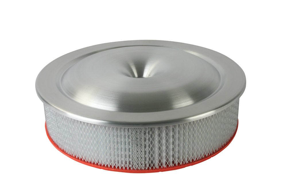 Moroso 65920 16in Alum. Air Cleaner - Low Profile 7-5/16 Neck