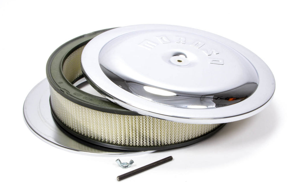 Moroso 65945 14in Chrome Air Cleaner 3in Filter
