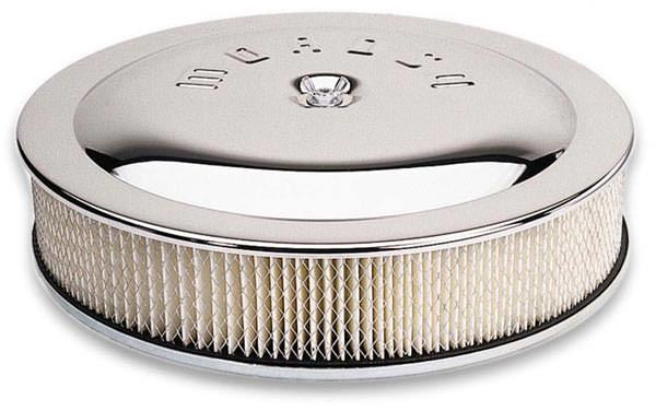 Moroso 65946 14in Chrome Air Cleaner 5in Filter