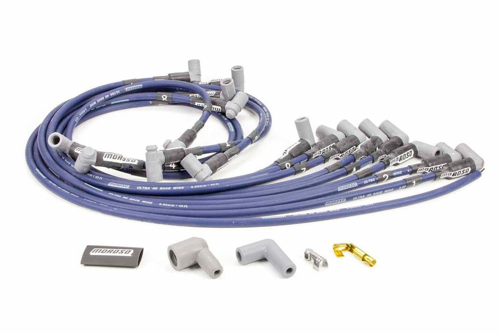 Moroso 73666 Ultra 40 Plug Wire Set - Blue