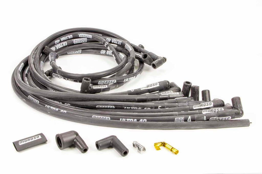 Moroso 73820 Ultra 40 Plug Wire Set - Black