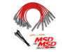 MSD 31639 8.5mm Plug Wire Set Ford Raptor 10-14 6.2L Red