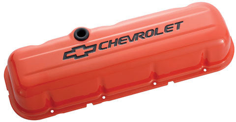 Proform 141-787 BBC Valve Covers - Stamped - Orange