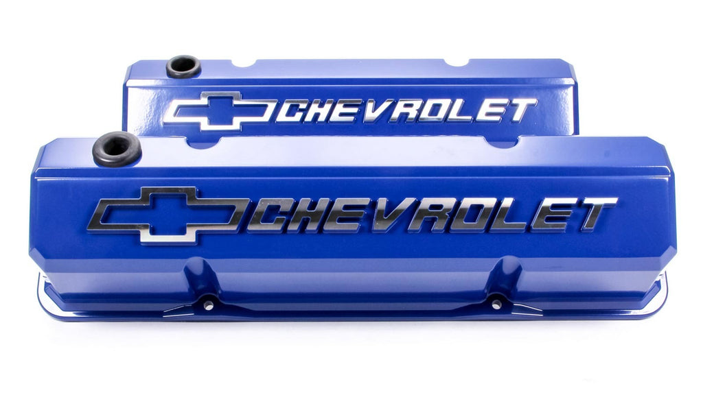 Proform 141-932 SBC Slant Edge V/C's - Die Cast - Blue