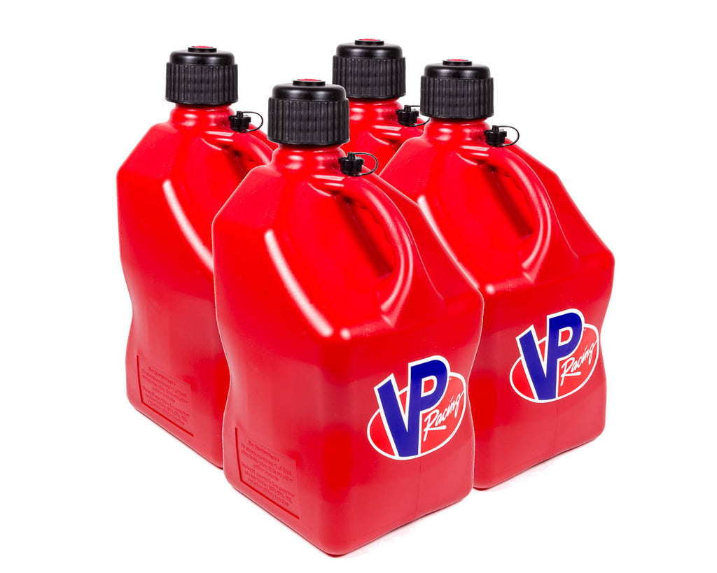 VP Racing 3514 Utility Jug 5 Gal Red Square (Case 4)