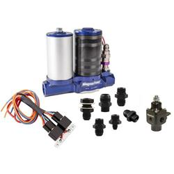 MagnaFuel MP-4812-BLK ProStar 500 Large 4 Barrel Universal Black Electric Fuel Pump Kit