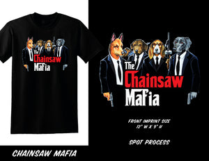 Chainsaw Mafia Dog Tee