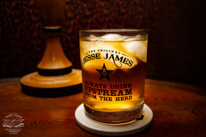 Limited Edition Collector's Jesse James Bourbon Whiskey Glass