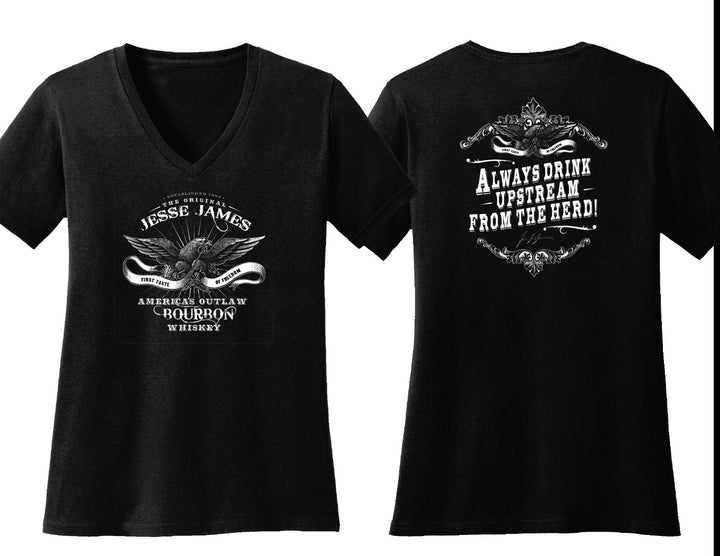 JESSE JAMES AMERICA'S OUTLAW BOURBON WOMEN'S TEE **NEW STYLE**
