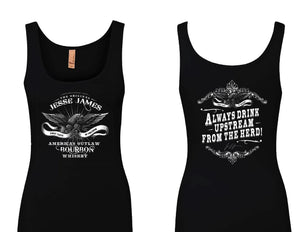 JESSE JAMES AMERICA'S OUTLAW BOURBON TANK **New Style**