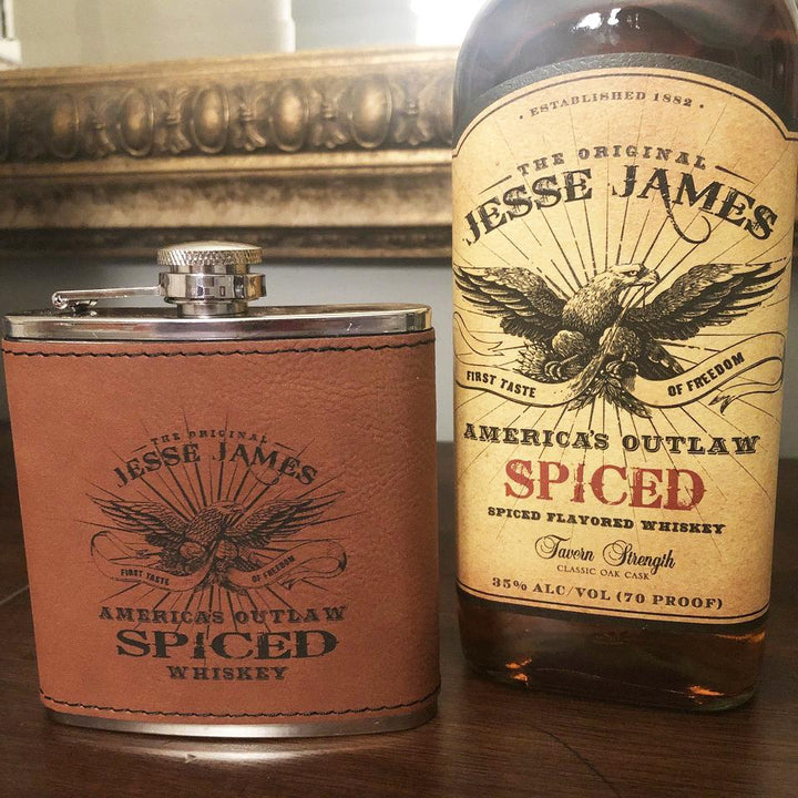 JESSE JAMES SPICED BOURBON FLASK