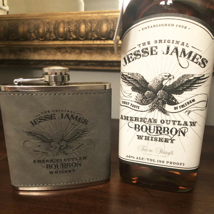 JESSE JAMES ORIGINAL BOURBON FLASK