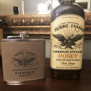 JESSE JAMES HONEY BOURBON FLASK