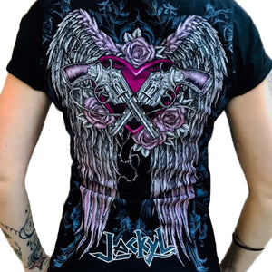 LADIES GUNS & WINGS TEE