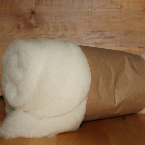 Natural White Wool Batt