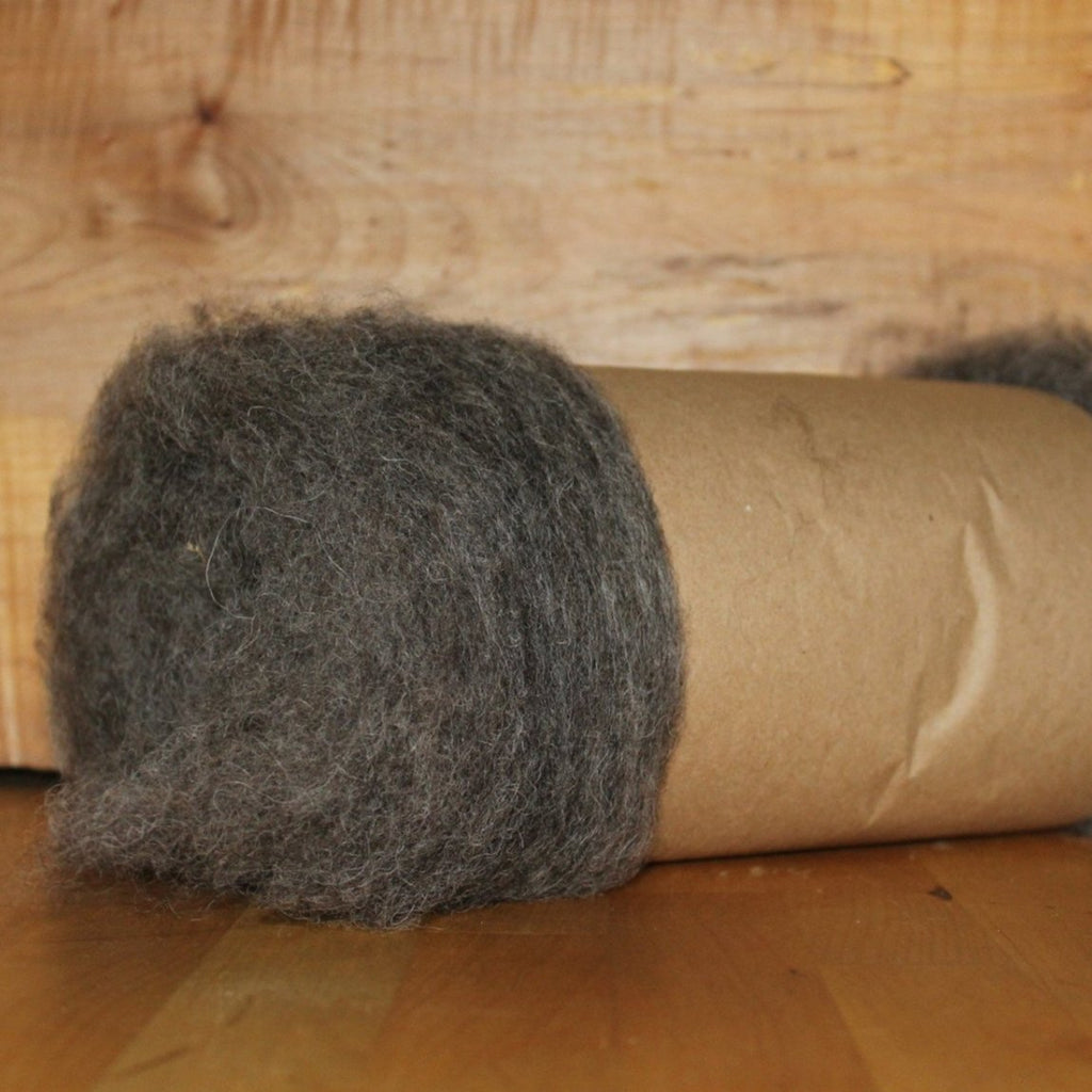 Natural Grey Wool Batt