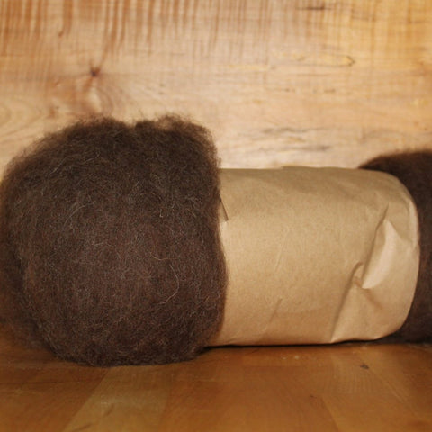 Natural Brown Wool Batt