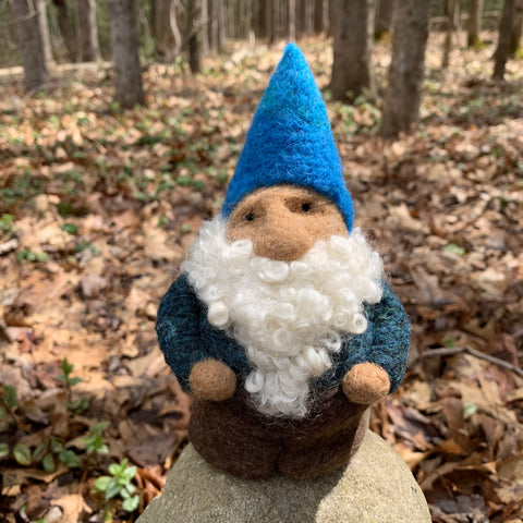 Gnome with Blue Hat
