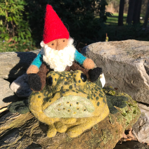 Frog with Gnome Rider